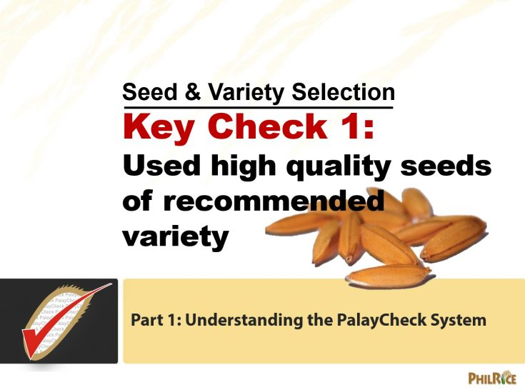 Learning Module on Variety and Seed Selection